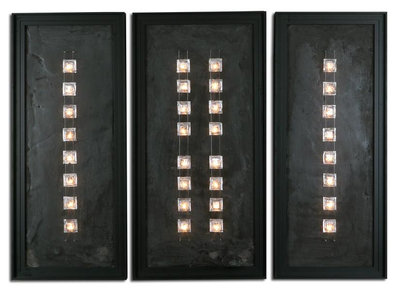 Tableau noir triptyque lampes design tables en b ton cir - Tableau lumineux design ...